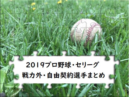 プロ 野球 戦力 外 2019